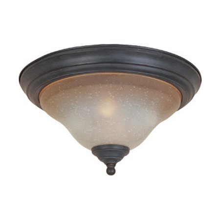 Natural Iron Two Light Down Lighting Flush Mount Ceiling -