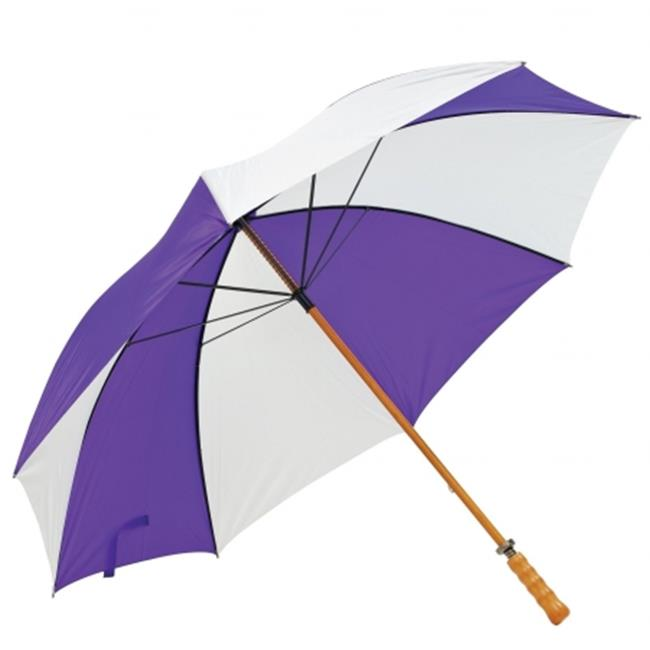 Frankford Umbrellas 2988WS-PW Premium Wood Shaft Golf Umbrella - Purple and White