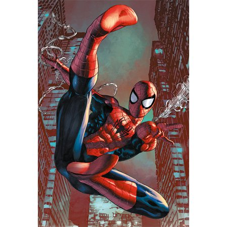 Spider Web Decor (Spider-Man - Marvel Comics Poster / Print (Web Slinging) (Size: 24