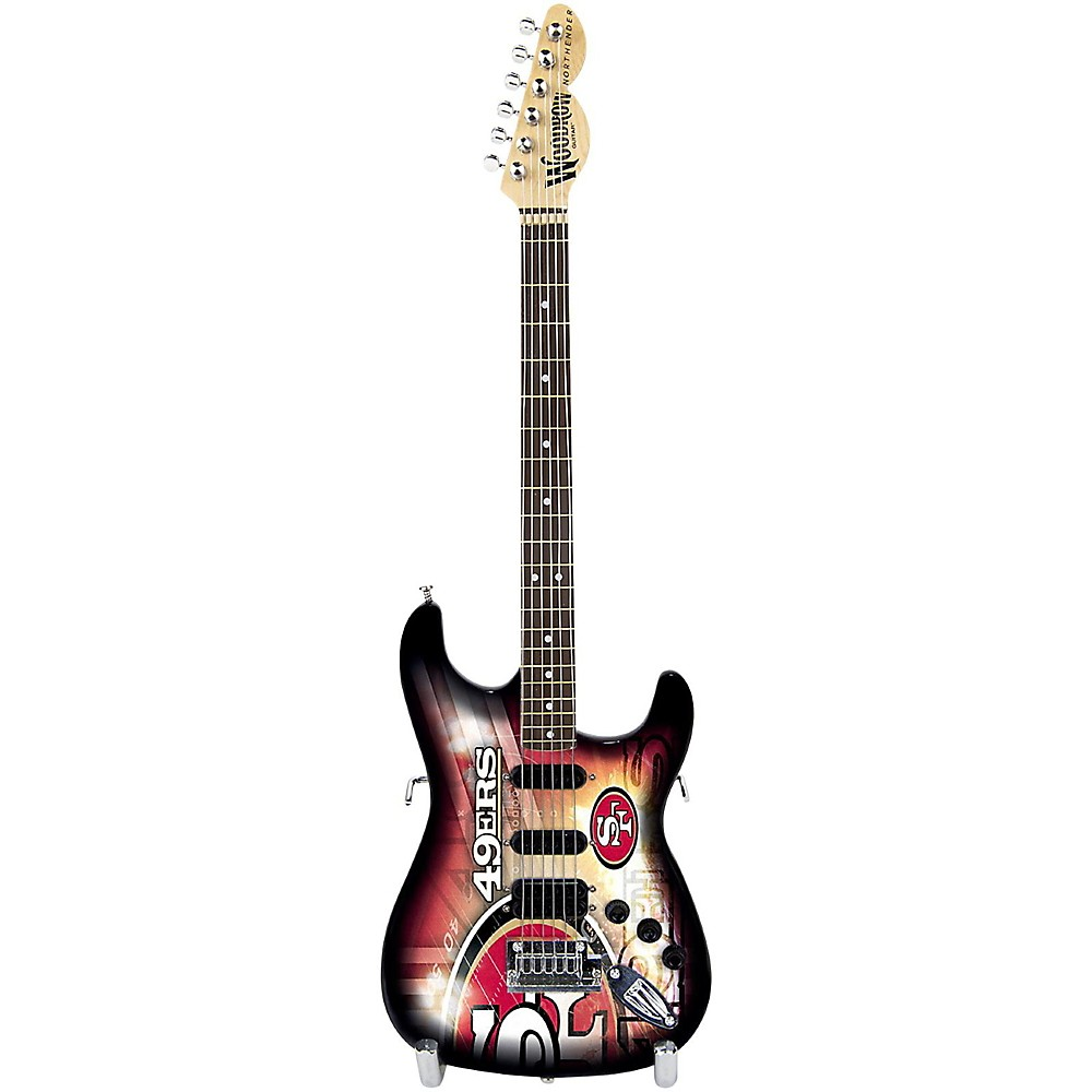 Woodrow NFL Mini Collectible Guitar, San Francisco 49ers