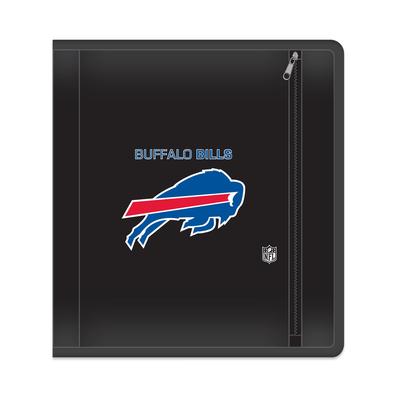 "NFL Buffalo Bills Zippered 3 Ring Binder, 250 Sheet Capacity, 1.625"" Metal Rings"