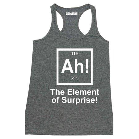 Element Top - P&B Ah! The Element of Surprise Women's Tank Top, Heather Charcoal, L