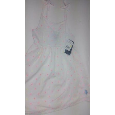 Us Polo Little Girls Dress White Pink Baby Sleeveless BRAND NEW (Us Polo Glasses)