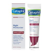 Cetaphil Redness Relieving Night Moisturizer, For Redness Prone Skin, 1.7 Fl Oz