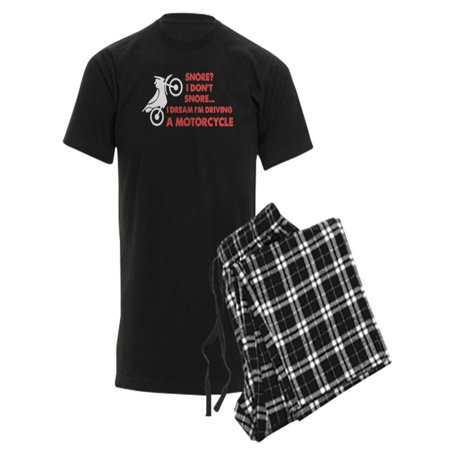 CafePress Snore Motorcycle Pajamas Men s Dark Pajamas