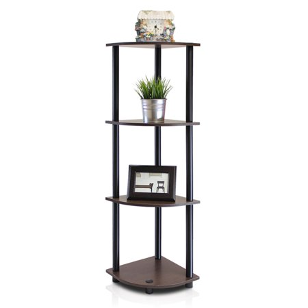 Furinno Turn-N-Tube 4-Tier Corner Display Rack Multipurpose Shelving Unit,