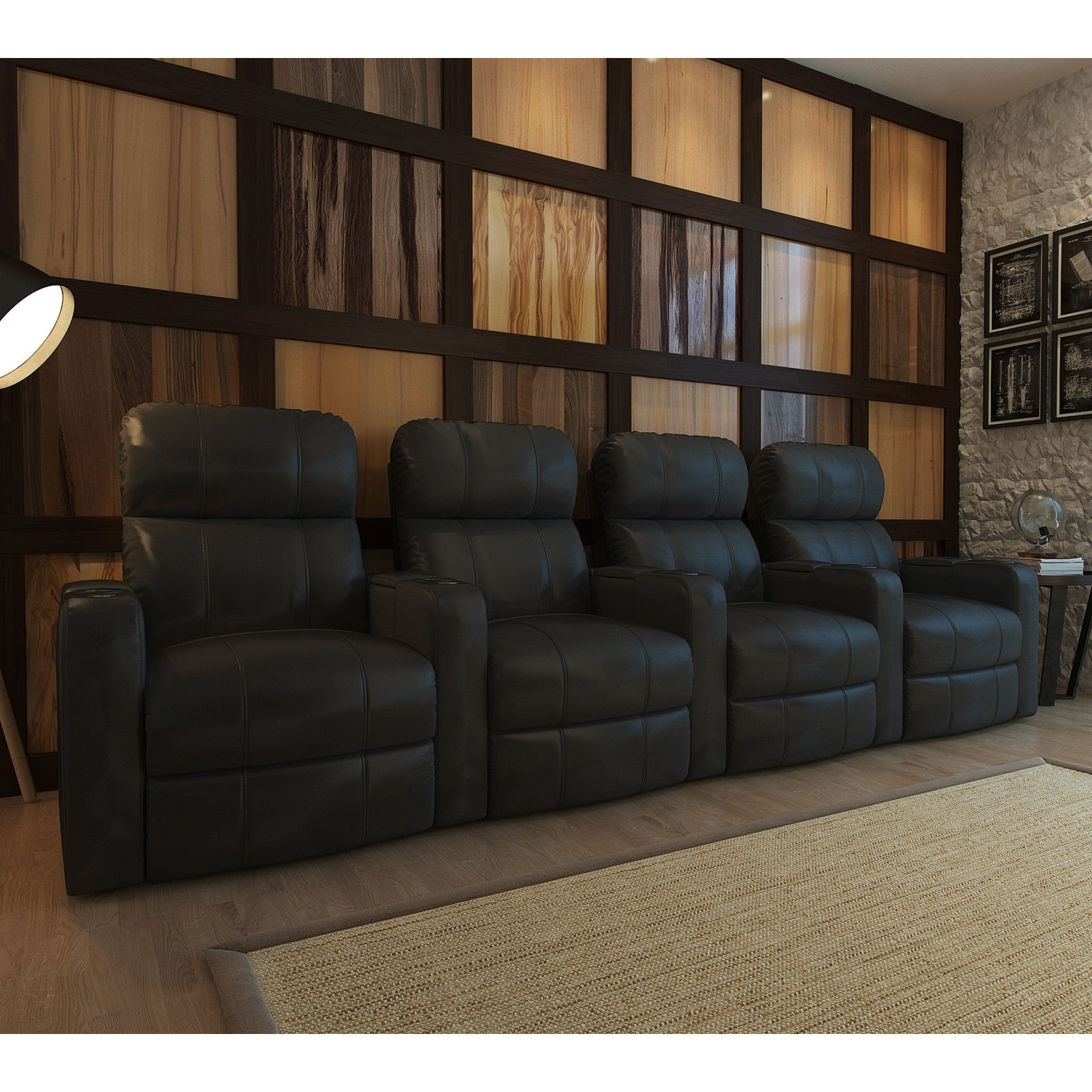 Octane Turbo XL700 4 Seater Bonded Leather Home Theater Seating