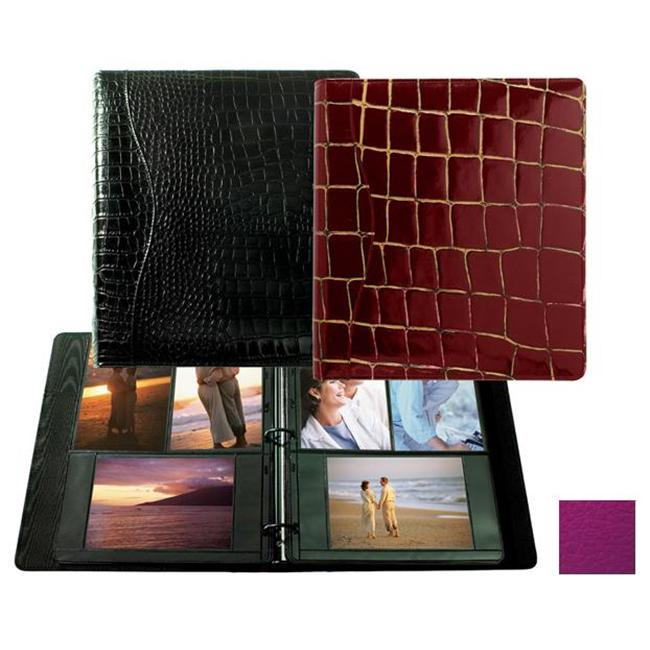 Raika RO 161 MAGENTA 8. 5inch x 11inch Three Ring Binder Photo Album - Magenta