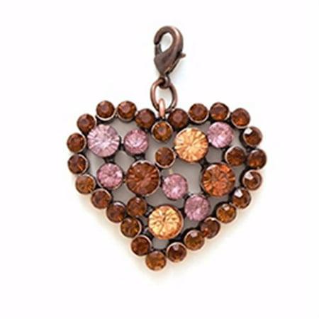 96902 Charm - Rhinestone Heart - Have Faith - 2 in. - Topaz - image 1 de 1