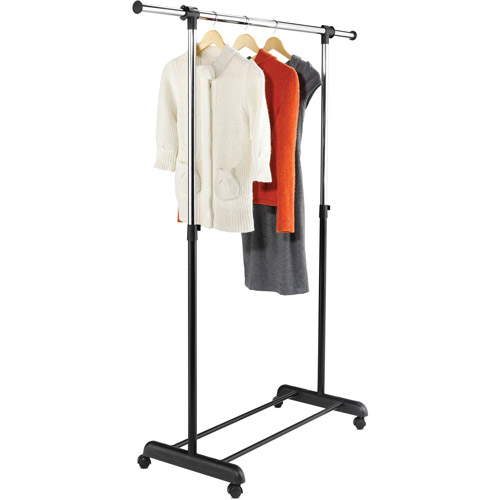 honey can do expandable garment rack chromeblack - Clothes Racks
