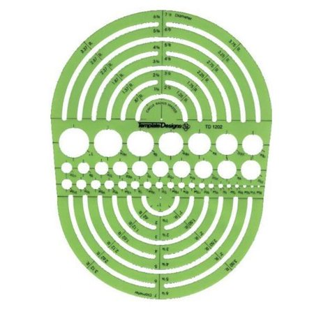 Alvin&Co 142R Rapid Design Circle Radius Master Template