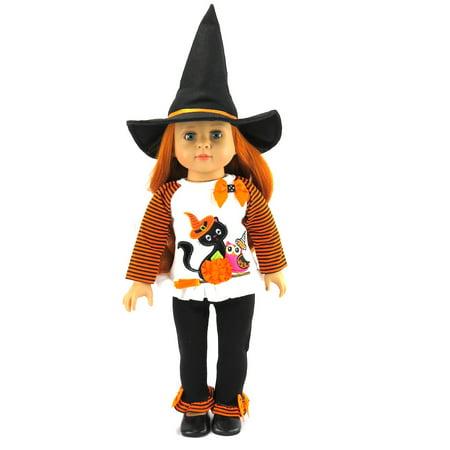 Halloween Black Cat Halloween Costume with HAT | Fits 18