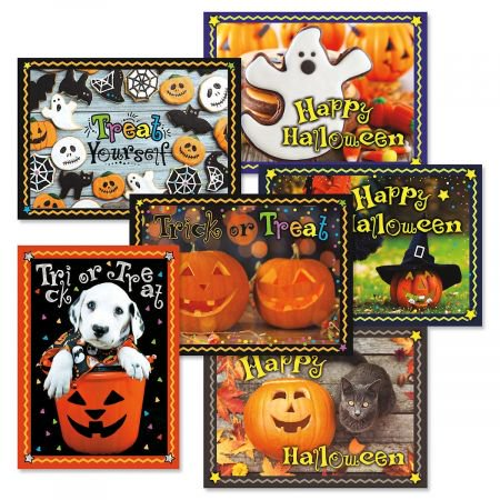 Photo halloween greeting cards set of 6 walmart photo halloween greeting cards set of 6 m4hsunfo