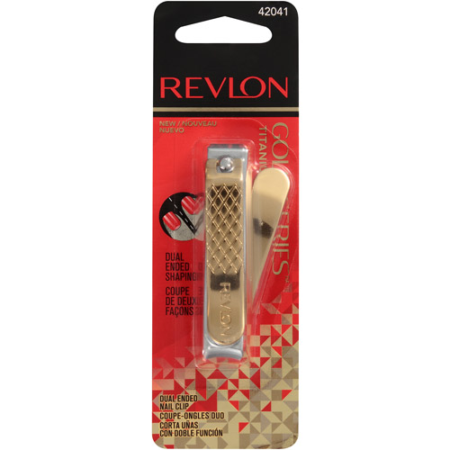 Revlon Gold Series Titanium Coated Dual Ended Nail Clipper