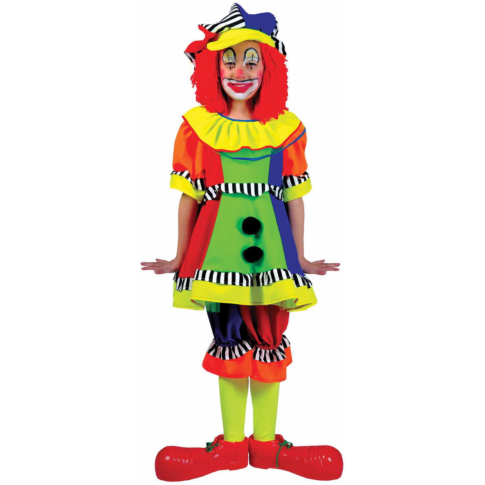 Spanky Stripes Clown Child Halloween Costume