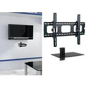 2xhome - Universal Flat LED LCD Plasma Flat TV Wall Mount Tilt for 35