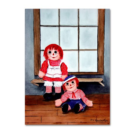 Trademark Fine Art Raggedy Ann And Andy Canvas Art By Arie Reinhardt Taylor