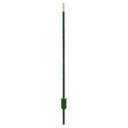 Image of 8' Green Studded Tee Fence Post Rail Steel 1 25 LB/FT Only One