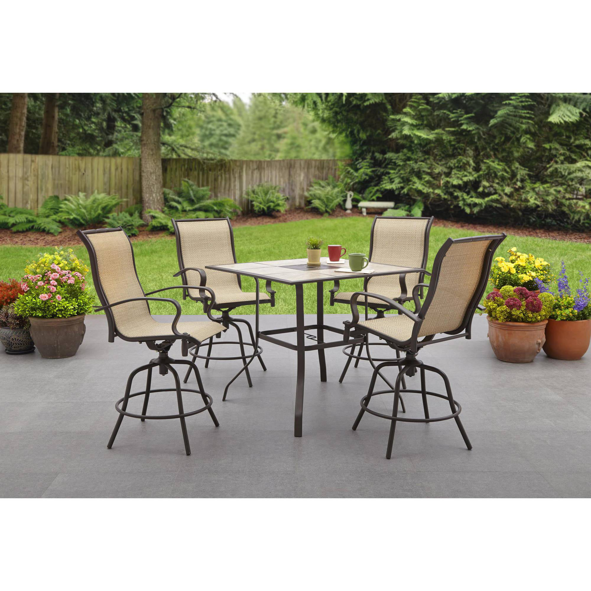 Wesley Creek 5 Piece Counter Height Dining Set Walmart