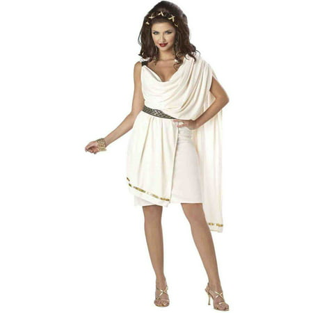 Deluxe Classic Toga Women's Adult Halloween Costume