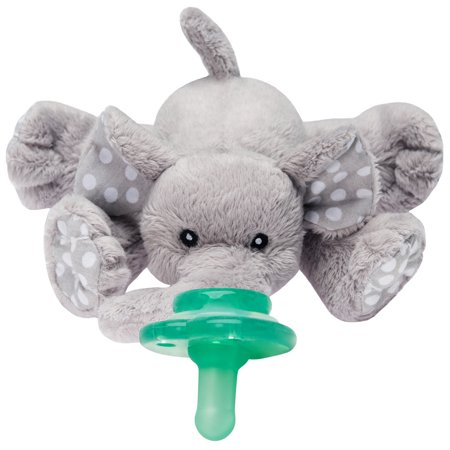 Nookums Paci-Plushies Buddies, Ella Elephant Pacifier Holder - Oversized Baby Pacifier