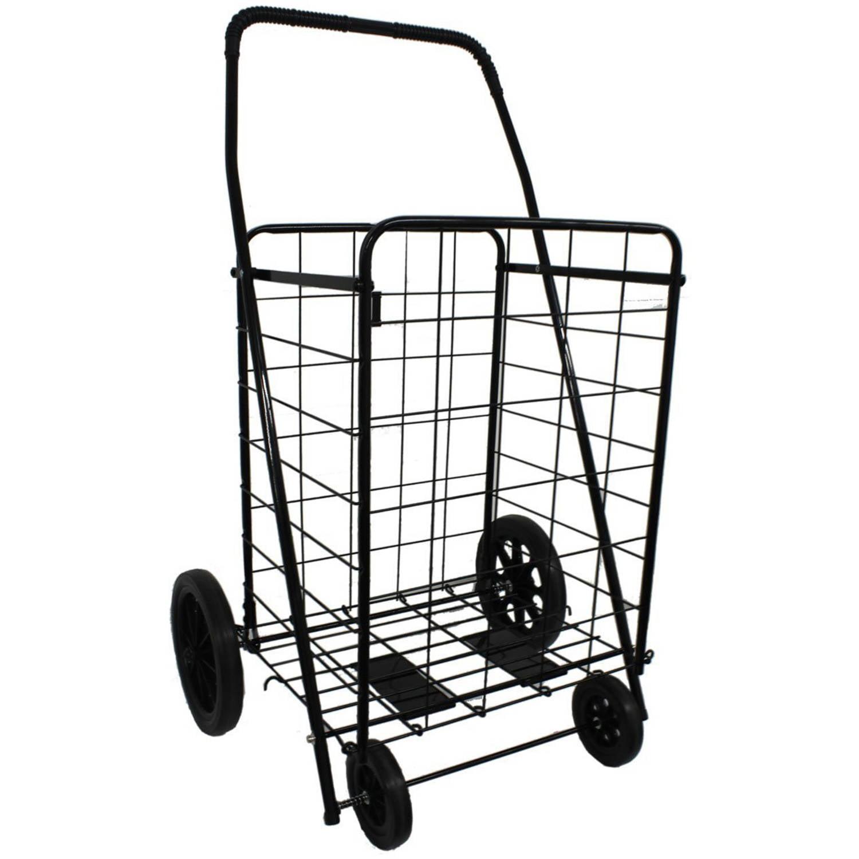 DLUX Model D801 Shopping Cart Size Black