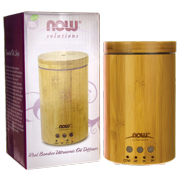 NOW Foods Real Bamboo Ultrasonic Oil Diffuser 1 Unit