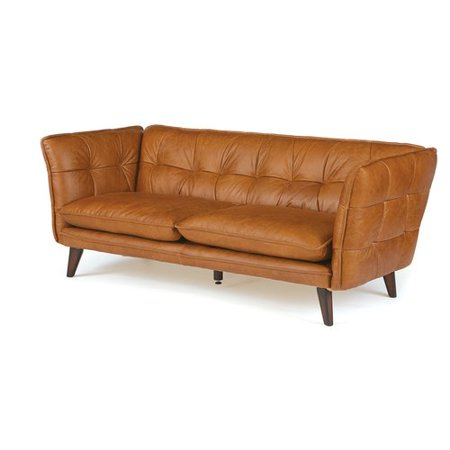 17 Stories Lysander Leather Chesterfield Sofa - Walmart.com