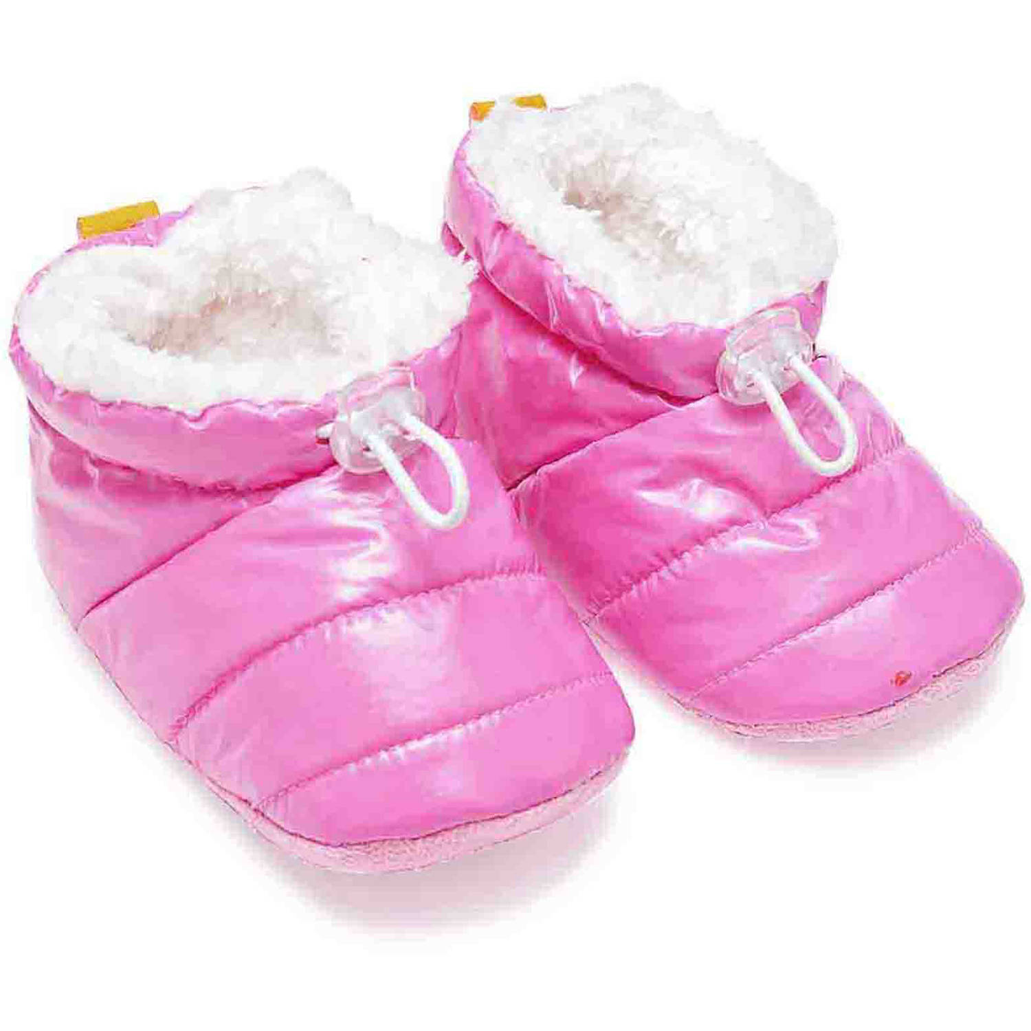 Skidders Baby Toddler Girls Puffy Bootie with Gripper Bottom