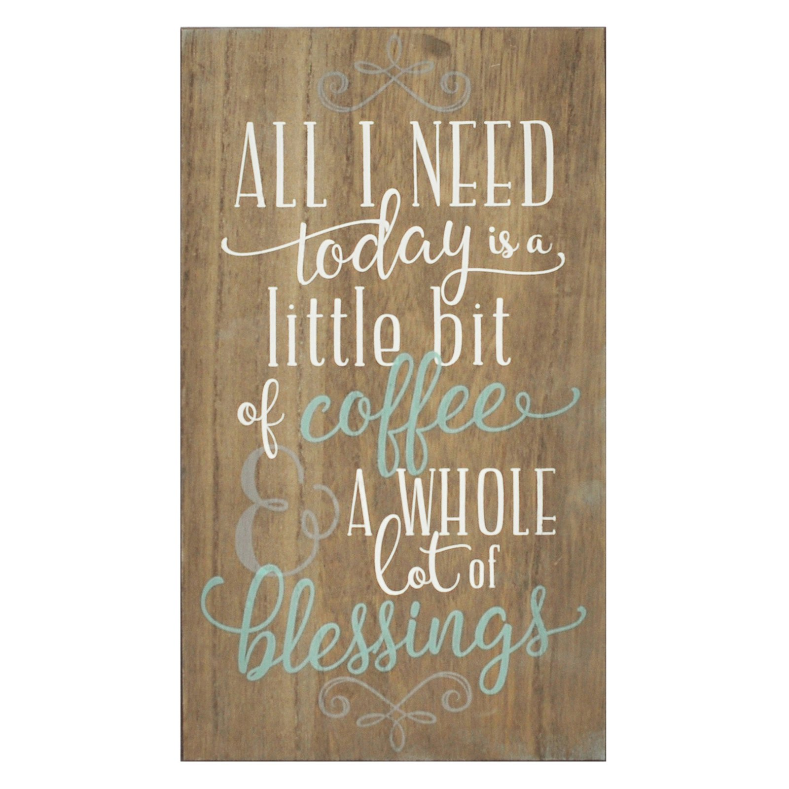 Stratton Home Decor Coffee and Blessings Wall Art