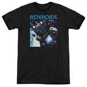 Atari 2600 Asteroids Mens Adult Heather Ringer Shirt