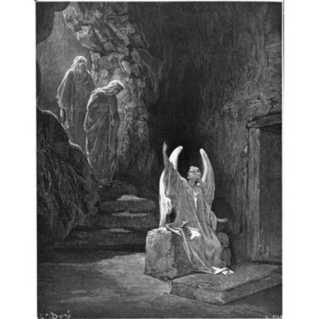 Posterazzi SAL995103169 The Angel Seated Upon the Stone Gustave Dore 1832-1883 French Poster Print - 18 x 24 in. - image 1 de 1
