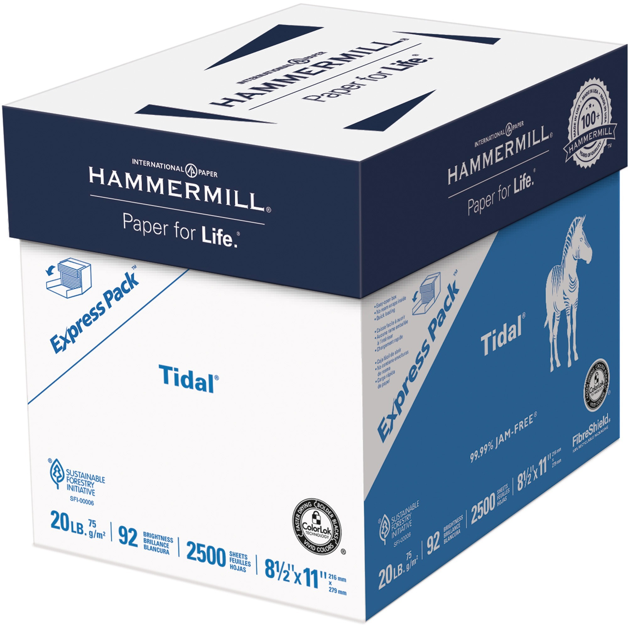 Hammermill, HAM163120, Tidal MP Paper Express Pack, 2500 / Carton, White
