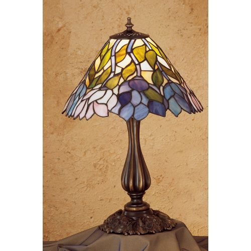 Meyda Tiffany 26908 Stained Glass / Tiffany Accent Table Lamp from the Classic Wisteria Collection