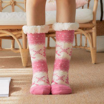 Women Men Lounge Slipper Bed Socks Fleece Fluffy Warm Grip Christmas Gift Unisex