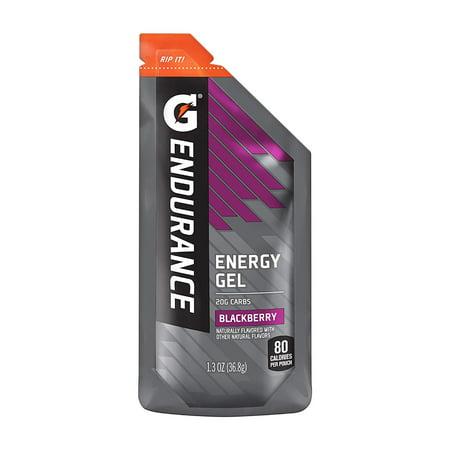 Gatorade Endurance Energy Gel, Blackberry, 1.3 oz Pouches, 21 Count