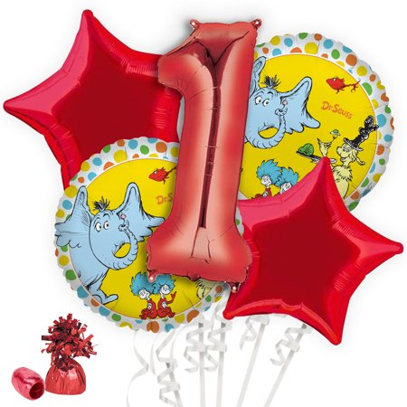Dr. Seuss Favorites 1st Birthday Balloon Bouquet Kit - Dr Suess Birthday Decorations