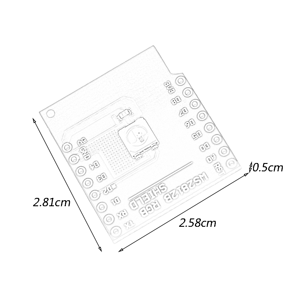 D1 Mini WS2812B RGB Shield Intelligent Control RGB 5050 LED Light Source