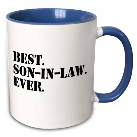 3dRose Best Son in Law Ever - fun inlaw gifts - family and relative gifts - Two Tone Blue Mug,