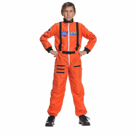 Orange Astronaut Child Halloween Costume - Astronaut Costume With Helmet