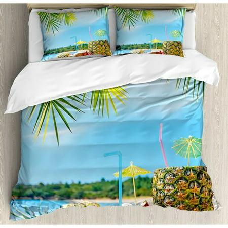 Ambesonne Tropical Duvet Cover Set (Rh Duvet Cover)