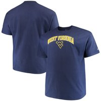 Men's Russell Athletic Navy West Virginia Mountaineers Big & Tall Classic Crew Neck T-Shirt