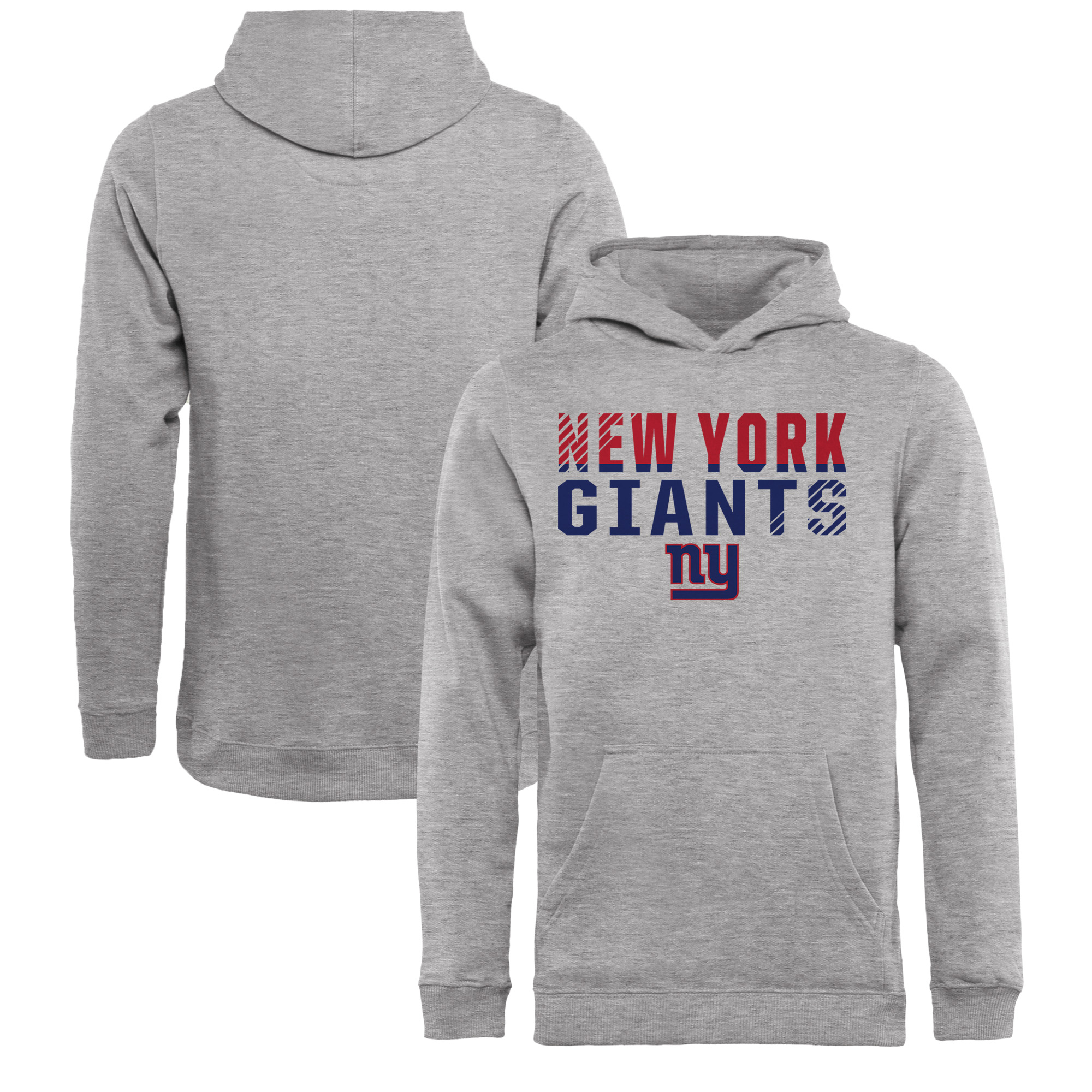New York Giants NFL Pro Line by Fanatics Branded Youth Iconic Collection Fade Out Pullover Hoodie - Ash