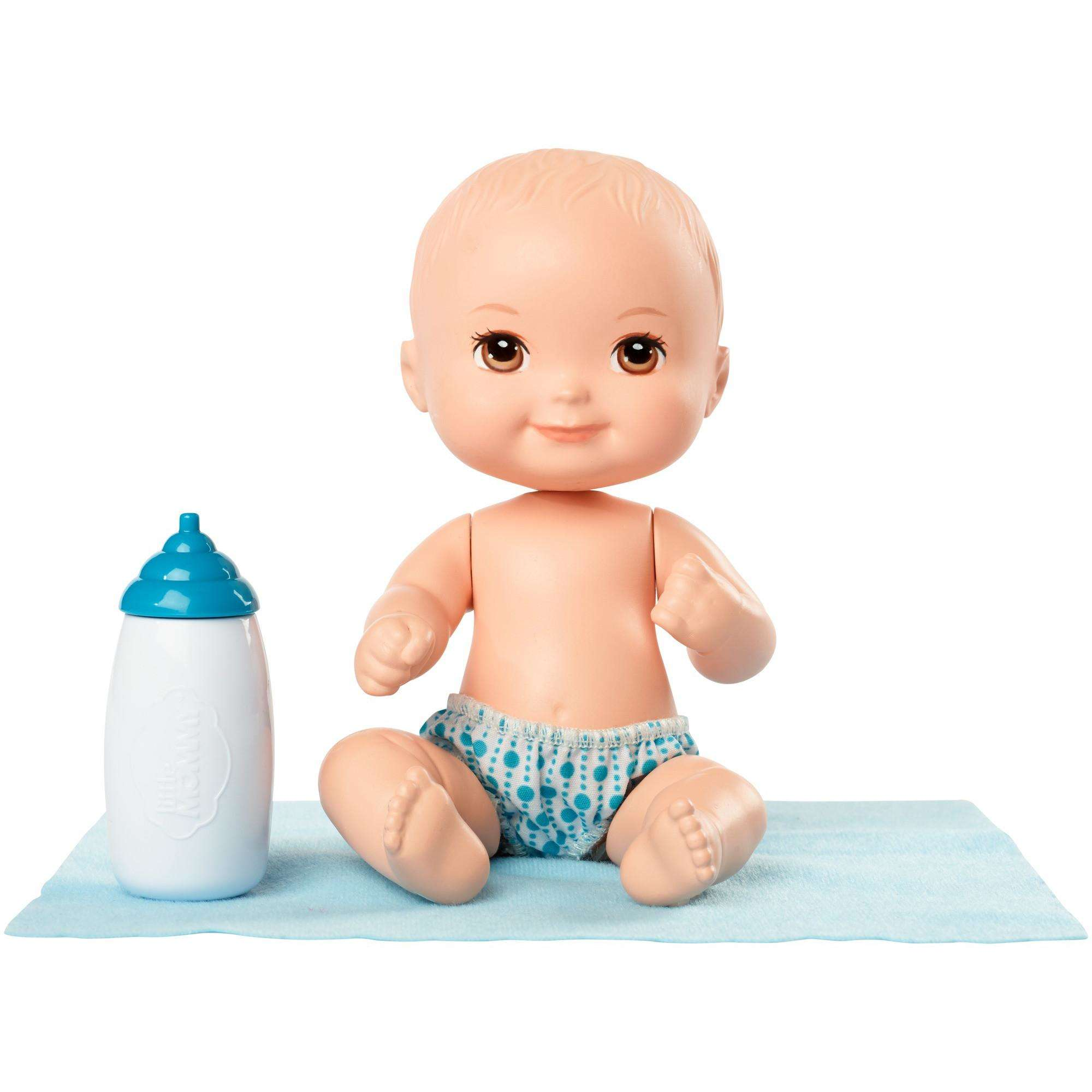 Little Mommy Mini Baby Nurture and Care Doll 3 - Blue Bottle