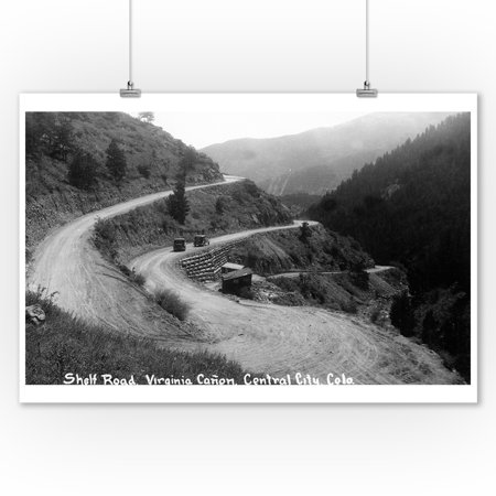 Central City, Colorado - Shelf Road in Virginia Canyon Photograph (9x12 Art Print, Wall Decor Travel Poster) - Party City In Virginia