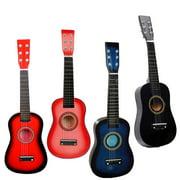 "23"" Acoustic Guitar Pick Strings Pink Beginners Practice Boy Kids Instrument"