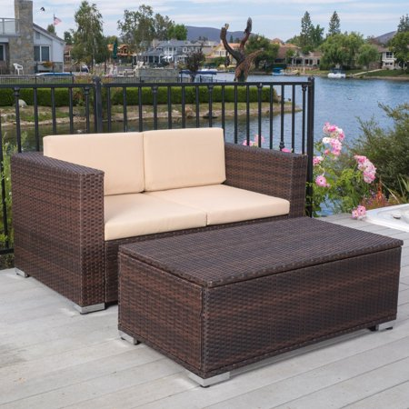 Best Selling Home Seychelles Loveseat and Table Set