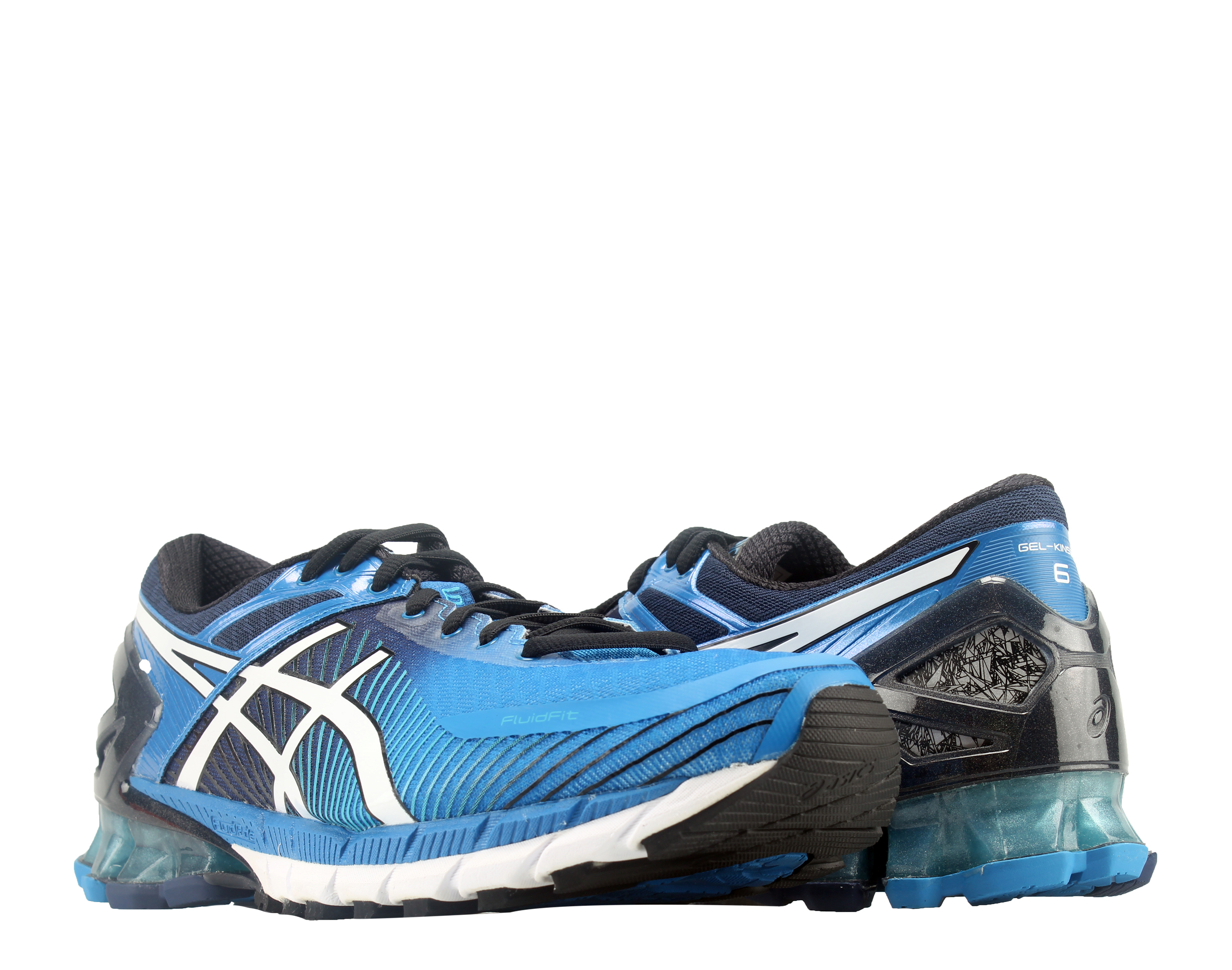 Asics Gel-Kensei 6 Electric Blue White Island Men's Running Shoes T644N-4200 by Asics