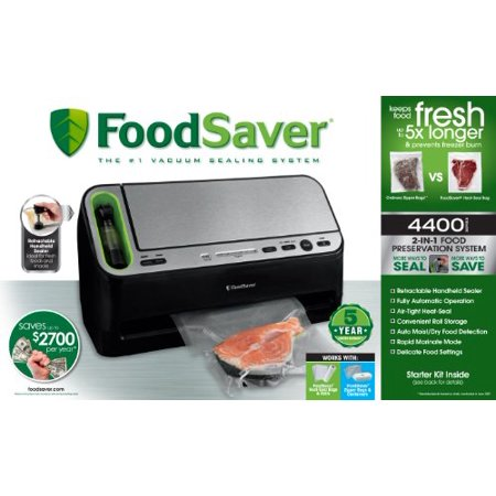 Foodsaver v4440 2 in 1 automatic vacuum sealing system with bonus foodsaver v4440 2 in 1 automatic vacuum sealing system with bonus built in fandeluxe Choice Image