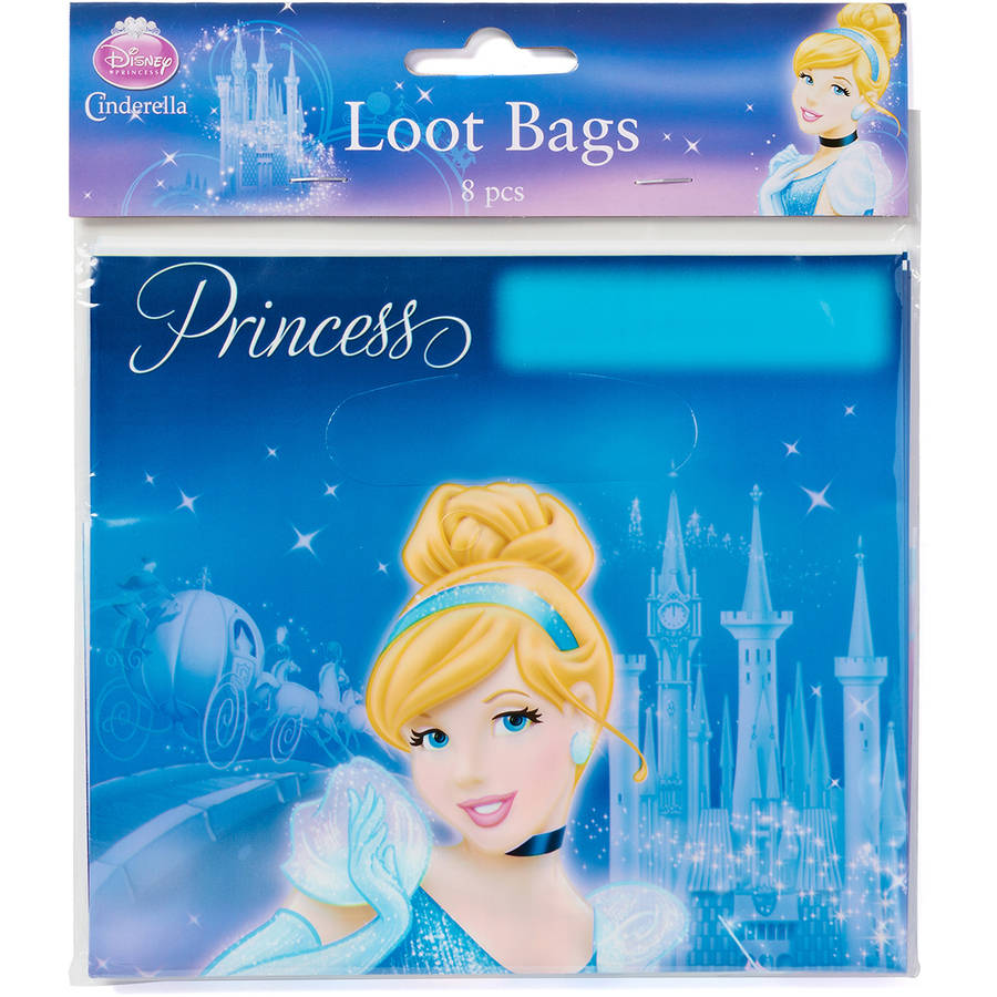 Cinderella Treat Bags, 8 Count, Party Supplies